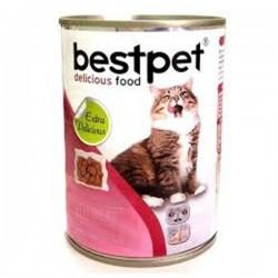 Best Pet - Bestpet Jöle İçinde Parça Etli Biftekli Konserve Yetişkin Kedi Maması