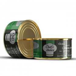 Chefs Choice - Chefs Choice Soslu Kıyılmış Dana Etli Konserve Kedi Maması