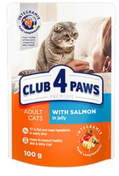 Club 4 Paws - Club 4 Paws Premıum Pouch Somonlu Yetişkin Kedi Konservesi
