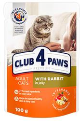 Club 4 Paws - Club 4 Paws Premıum Pouch Tavşanlı Yetişkin Kedi Konservesi