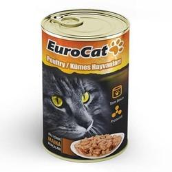 Euro Cat - Euro Cat Kümes Hayvanlı Yetişkin Kedi Konservesi