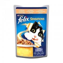 Felix - Felix Sensations Somonlu ve Karidesli Yetişkin Kedi Konservesi