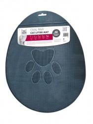 M-Pets - M-Pets Kedi Tuvalet Önü Paspasi Oval Pati İzli