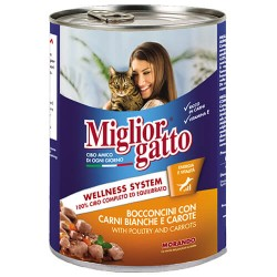 Mıglıor Gatto - Mıglıor Gatto Kümes Hayvanlı Ve Havuçlu Kedi Konservesi