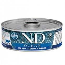 N&D - N&D Ocean Levrek Ve Sardalyalı Karidesli Yetişkin Kedi Konservesi