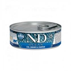 N&D - N&D Ocean Morina Balıklı Karidesli Balkabaklı Yetişkin Kedi Konservesi