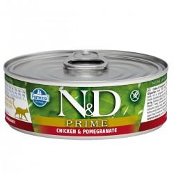 N&D - N&D Prime Tahılsız Tavuk ve Narlı Yetişkin Kedi Konservesi