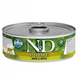 N&D - N&D Prime Tahılsız Yaban Domuzlu Ve Elmalı Yetişkin Kedi Konservesi