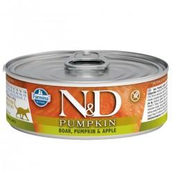 N&D - N&D Pumpkin Balkabaklı Tahılsız Domuzlu Ve Elmalı Kedi Konservesi