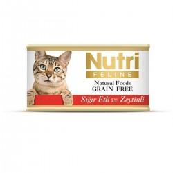 Nutri Feline - Nutri Feline Sığır Etli Ve Zeytinli Tahılsız Yetişkin Kedi Konservesi