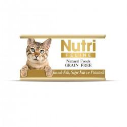 Nutri Feline - Nutri Feline Tavuklu Sığır Etli Ve Patatesli Tahılsız Yetişkin Kedi Konservesi