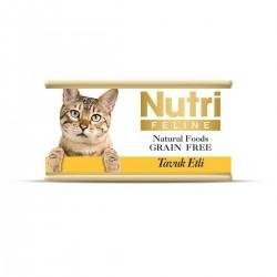 Nutri Feline - Nutri Feline Tavuklu Tahılsız Yetişkin Kedi Konservesi