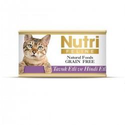 Nutri Feline - Nutri Feline Tavuklu Ve Hindi Etli Tahılsız Yetişkin Kedi Konservesi
