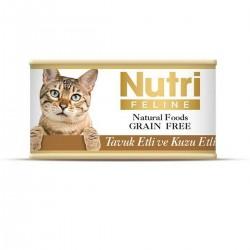 Nutri Feline - Nutri Feline Tavuklu Ve Kuzu Etli Tahılsız Yetişkin Kedi Konservesi