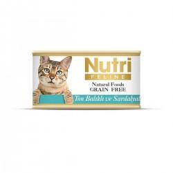 Nutri Feline - Nutri Feline Ton Balık Ve Sardalyalı Tahılsız Yetişkin Kedi Konservesi