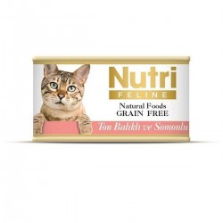 Nutri Feline - Nutri Feline Ton Balıklı Ve Somonlu Tahılsız Yetişkin Kedi Konservesi