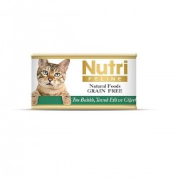 Nutri Feline - Nutri Feline Ton Balıklı Ve Tavuk Cigerli Tahılsız Yetişkin Kedi Konservesi