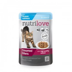 Nutrilove - Nutrilove Tahılsız Okyanus Balıklı Kedi Konservesi Pouch