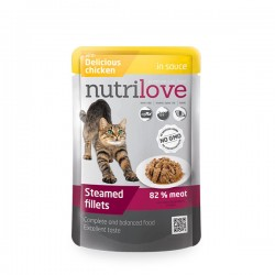 Nutrilove - Nutrilove Tahılsız Tavuk Etli Kedi Konservesi Pouch