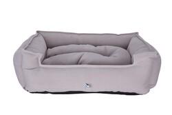 Petix Bed - Petix Bed Plus Mikro Fiber Kumaş Yatak Açık Gri