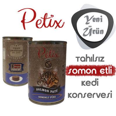 Petix Tahılsız Somon Balıklı Kedi Konservesi 400 gr