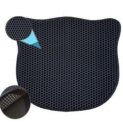 PETS - Pets Kedi Şekilli Elekli Kum Toplama Paspası Siyah