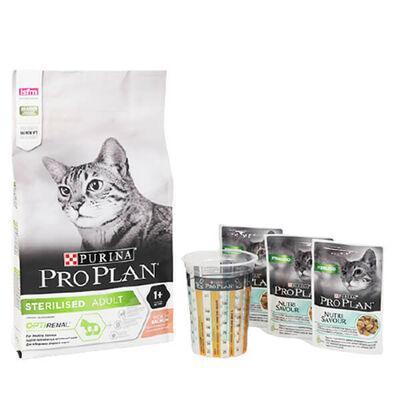 Pro Plan Sterilised Somonlu Kısırlaştırılmış Kedi Maması 1.5 Kg (+3x85 Gr Pouch Hediyeli)