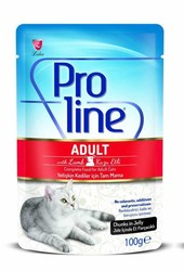 Pro Line - Proline Kuzu Etli Pouch Yetişkin Kedi Konservesi