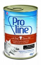Pro Line - Proline Soslu Biftekli Yetişkin Kedi Konservesi