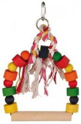 Trıxıe - Trixie Renkli Ahşap Bloklu Salıncak